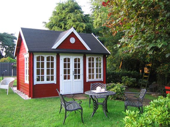 Gartenhaus aufbauen die schritt f r schritt anleitung - Gartenhaus clockhouse ...